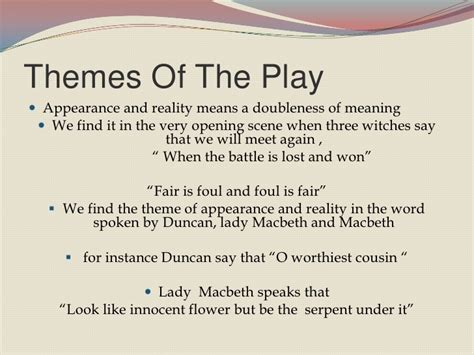 themes shown in macbeth macbeth