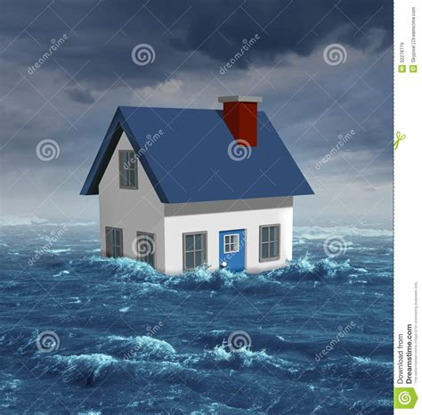house flood insurance house flood royalty free stock images image 32278779