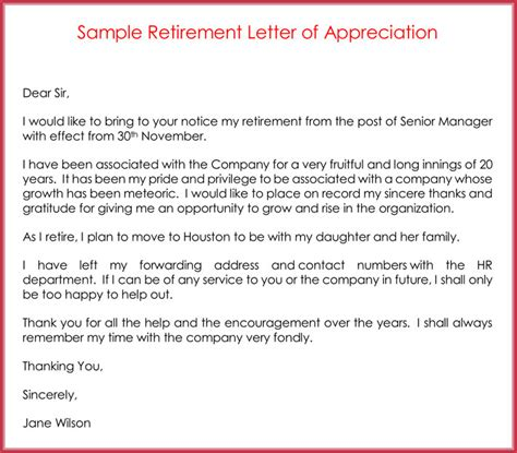 sle retirement letter appreciation letter on retirement 28 images 10 1602