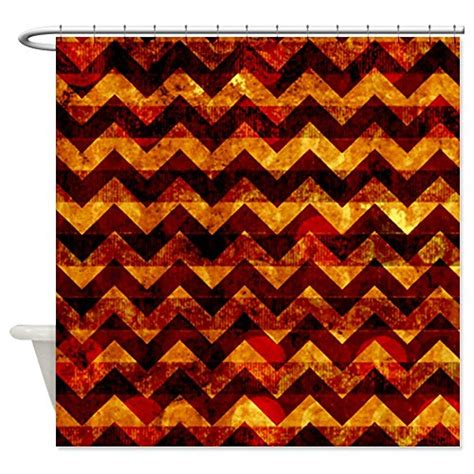 orange chevron curtains orange chevron shower curtain