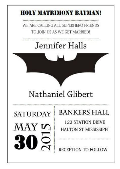 Batman Wedding Invitations