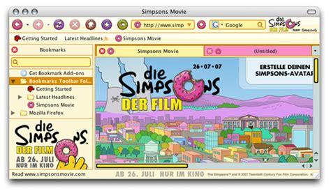 firefox themes simpsons the simpsons movie theme for firefox avaxhome