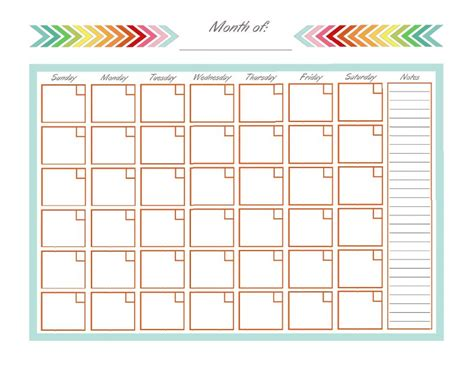 printable blank planner pages home management binder monthly calendar blank monthly