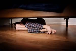 hiding under the bed you can t beat fear pretending it s not there savvy dad