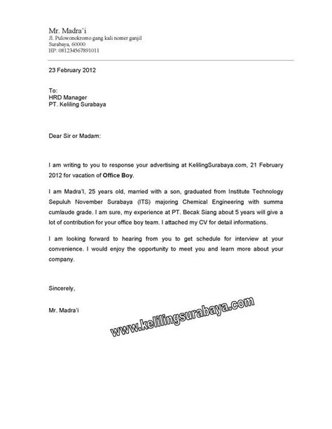 Penulisan Yang Benar Pada Lop Lamaran Kerja by Contoh Surat Lamaran Di Luar Lop 20 Contoh Surat Lamaran