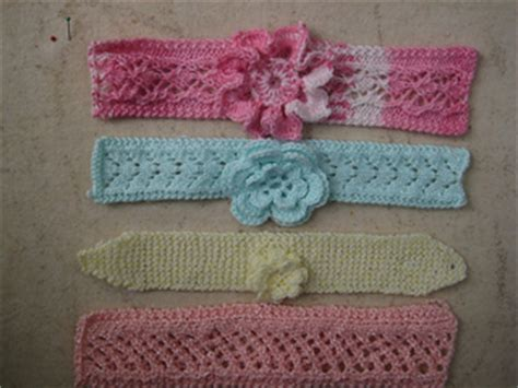 easy knit baby headband ravelry easy knit baby headbands with flowers pattern by
