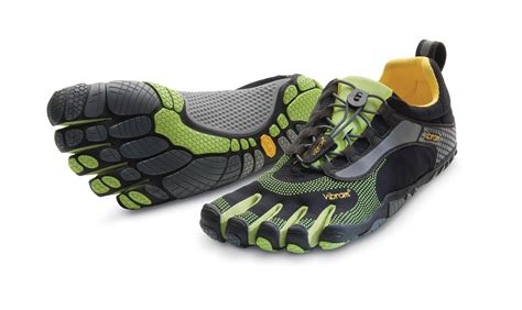 5 finger running shoes bikila ls black green feetus