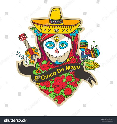 cinco de mayo skull www imgkid com the image kid
