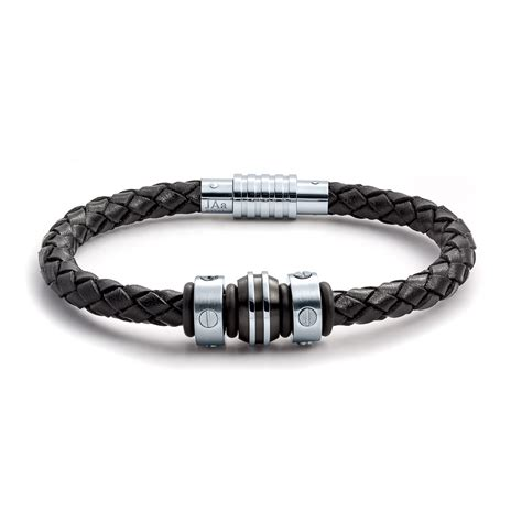 bracelet jewelry aagaard mens jewelry leather bracelet no 1276 landing