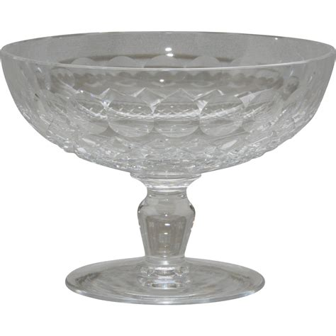 waterford crystal l base waterford crystal quot colleen quot pattern compote from arttiques