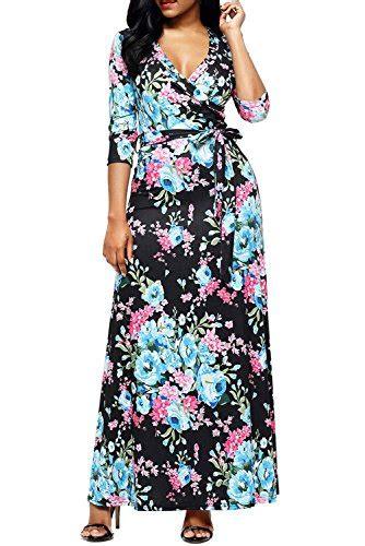 Xl Jumbo Bigsize Maxi Longdress Gamis Dress Wanita Slit Blouse alvaq summer casual sleeve wrap v neck floral import it all
