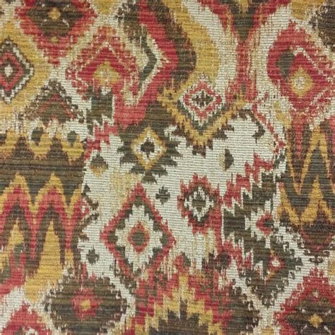 Upholstery Fabric Southwest by Henry Talbot Gold Southwestern Upholstery Fabric 56250