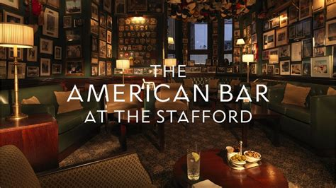 the american bar the stafford london hotel st james place the american bar the stafford london youtube