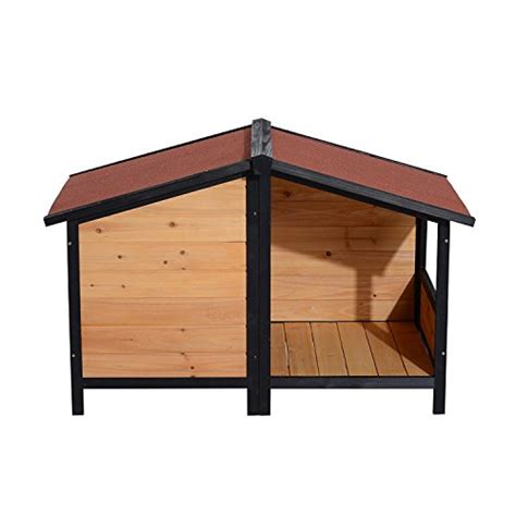 dog house roof materials pawhut elevated dog house with opening roof doggie house depot