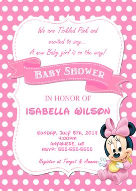 minnie mouse baby shower invitations templates baby minnie mouse baby shower invitation