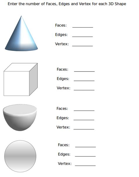 Identifying Faces Edges And Vertices Worksheet by Number Names Worksheets 187 Sides And Vertices Worksheets
