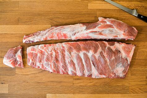 How To Cook Trimmed Rack Of by How To Trim Pork Spareribs Into A St Louis Style Cut