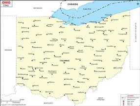 cities in ohio ohio cities map