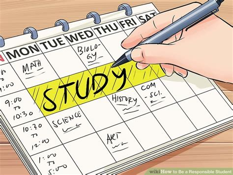 How To Be A Student how to be a responsible student with pictures wikihow