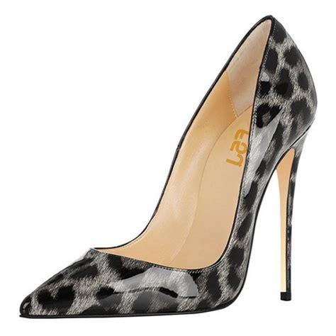 gray patterned heels grey leopard print heels 4 inches stiletto heels patent