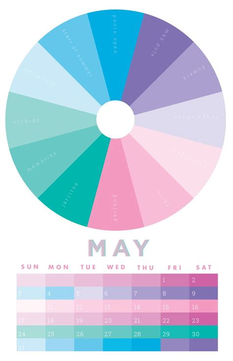 may colors 15 best 2015 chromophilia color wheel calendar images on