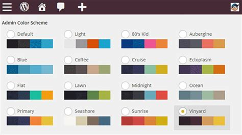 add colour themes to tagxedo how to change the admin color scheme in wordpress 3 8