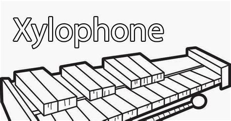 coloring pages xylophone coloring pages xylophone x by letter