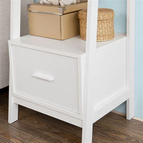 white bookcase with drawer sobuy 174 white storage display shelf bookcase with drawer and