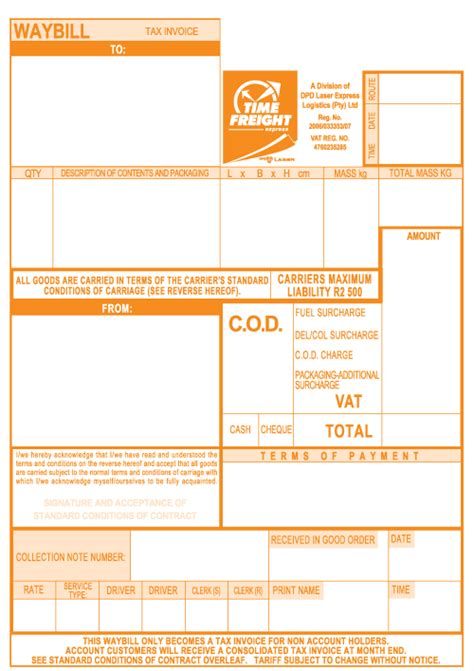 air waybill template air waybill template and tracking procedure excel