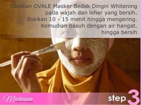 Masker Ovale Bedak Dingin perawatan wajah dengan ovale masker bedak dingin mariana