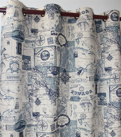 map curtain nautical bedroom curtains promotion shop for promotional