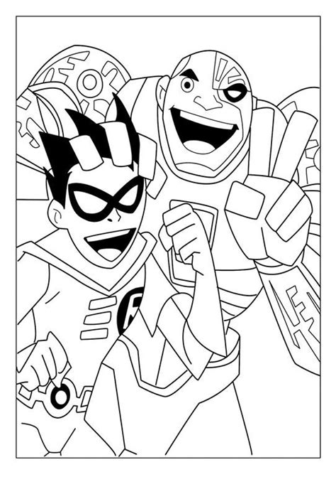 lego cyborg coloring page teen titans coloring pages robin and cyborg coloring 4