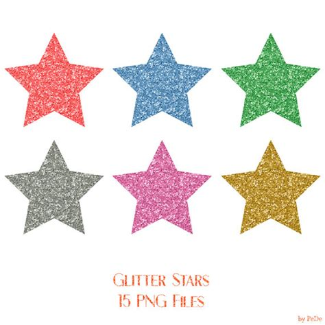 clipart stelle buy 3 for 8 usd 15 glitter clip colorful