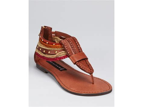 cognac flat sandals steve madden steven by sandals bonyta flat in brown