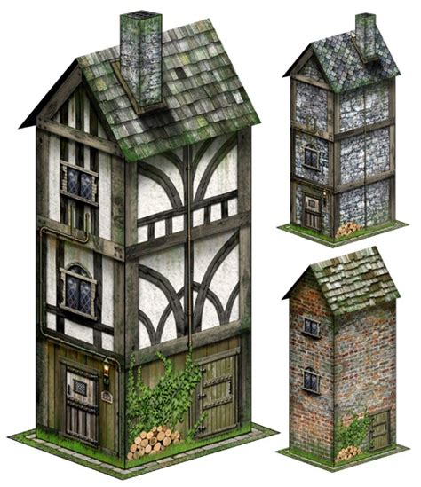 1000 Images About Papercraft Houses On Model - paizo hostel 28mm 30mm papercraft model pdf