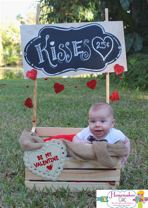 day baby photo ideas valentine s day booth photo prop homemaker chic