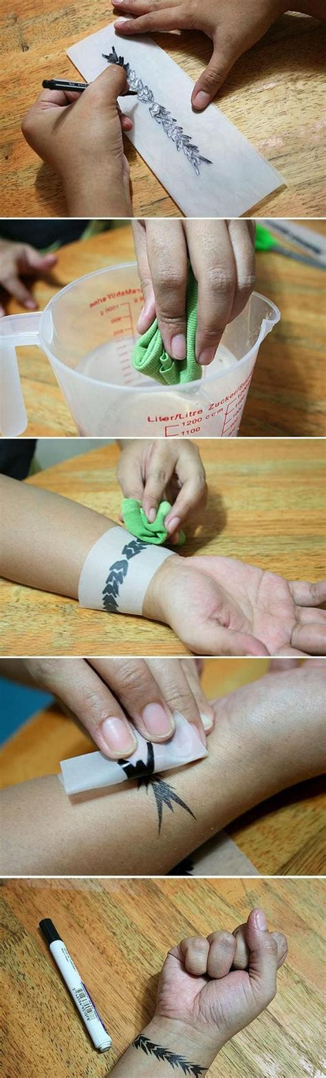 How To Make A Temporary With Tracing Paper - echopaul official top 10 diy temporary tattoos