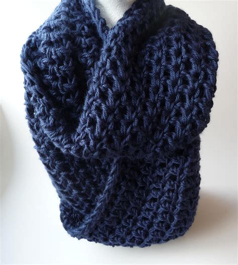 blue color infinity scarf trendy mods
