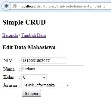 membuat aplikasi crud dengan php mysql cara membuat aplikasi crud sederhana dengan php dan mysql