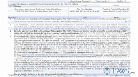 Irs Section 48 by Learn How To Fill The Form 2848 Power Of Attorney And