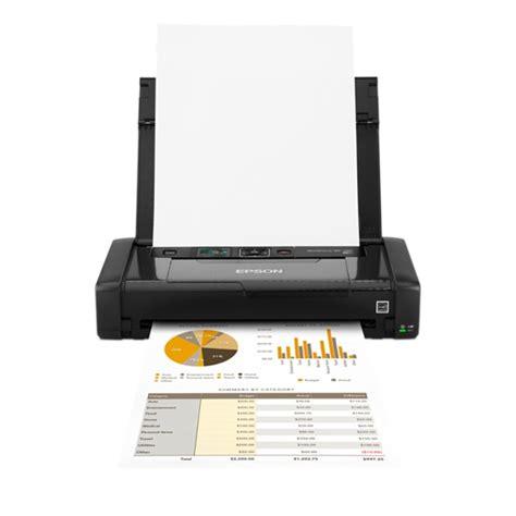 Printer Portable Epson epson workforce wf 100w portable a4 printer apple uk