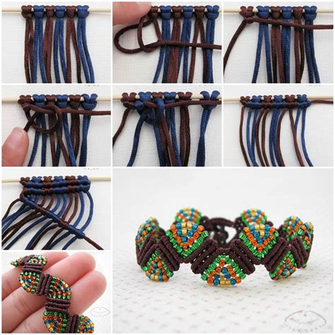 Diy Macrame - wonderful diy unique macrame beaded bracelet