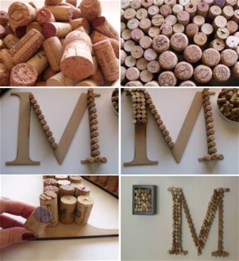 diy projects with corks diy projects wine cork monogram