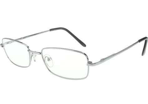 non prescription clear glasses silver frame