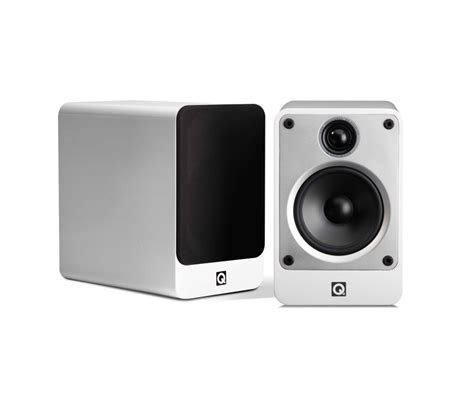 q acoustics concept 20 gloss white bookshelf speakers pair