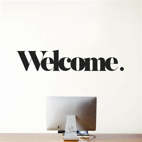 welcome home decor welcome wall message weew smart design