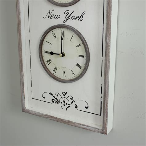 white wooden distressed wall clock white wooden distressed time zone wall clock