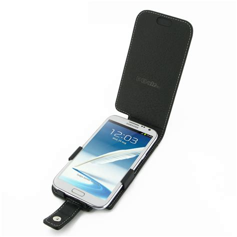 Samsung Galaxy Note 2 Lather Flip Casing Cover Bumper Sarung samsung galaxy note 2 leather flip cover pdair sleeve pouch