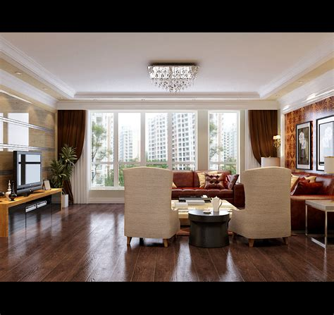 Large Living Room Windows by Modern Living Room With Big Windows 3d Model Max
