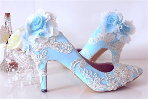 Size 36 40 Sepatu Connexion sepatu pointed pompom brukat baby blueslightshop